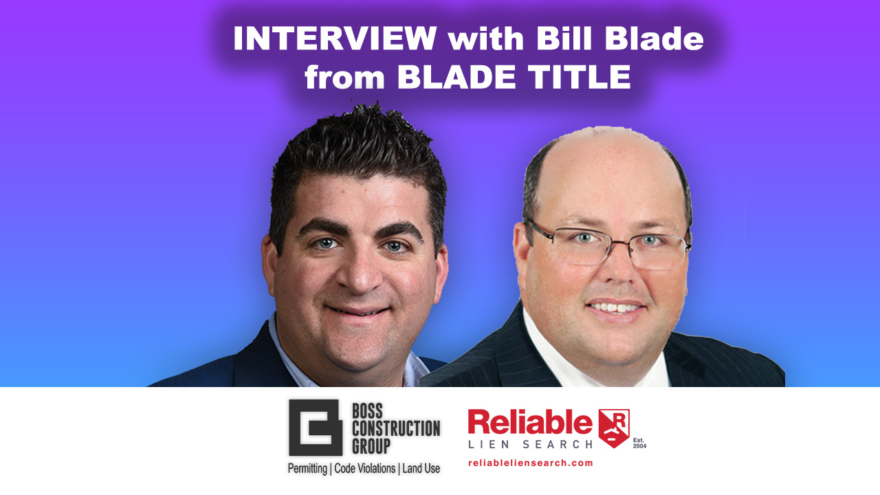 Interview with Bill Blade from Blade Title from Deerfield Beach, FL