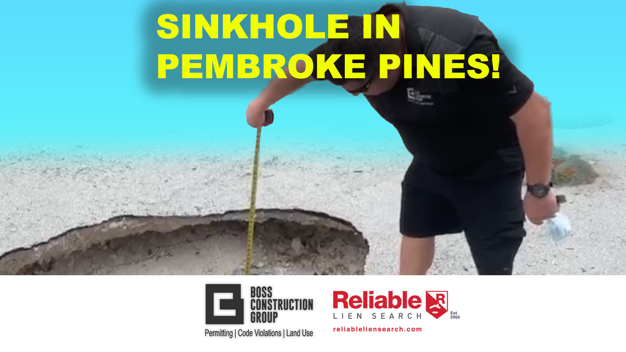 Sinkhole in Pembroke Pines!