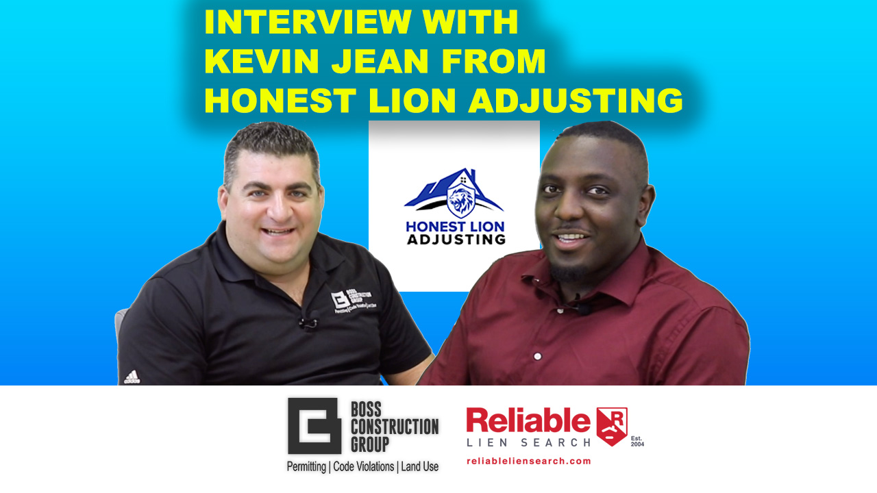 Interview with Kevin Jean, from Honest Lion Adjusting