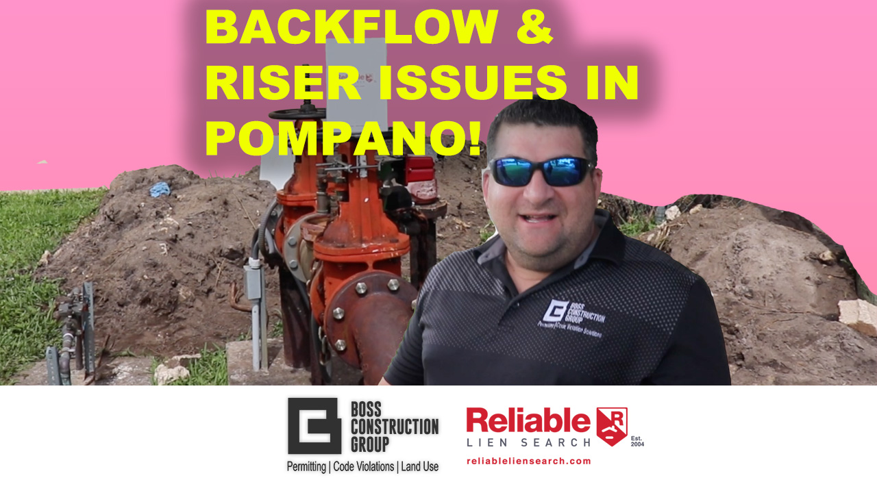Riser and Backflow Issues in Pompano!