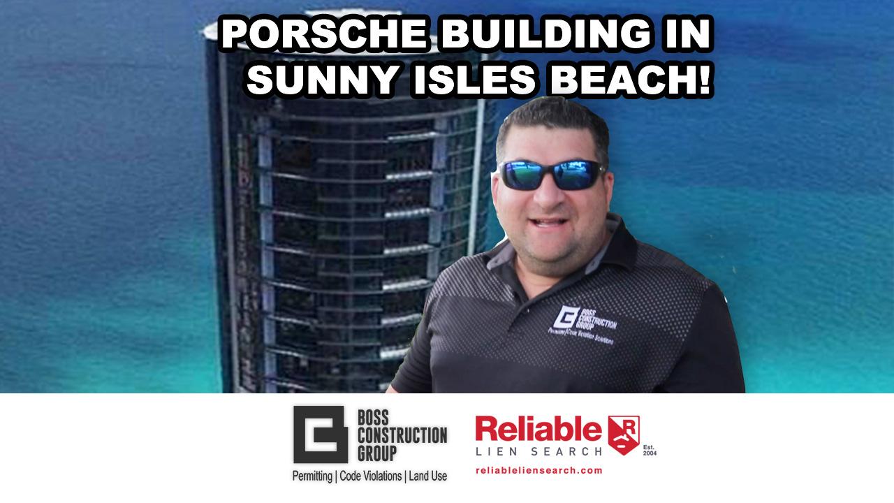 Porsche Building in Sunny Isles Beach, Florida!